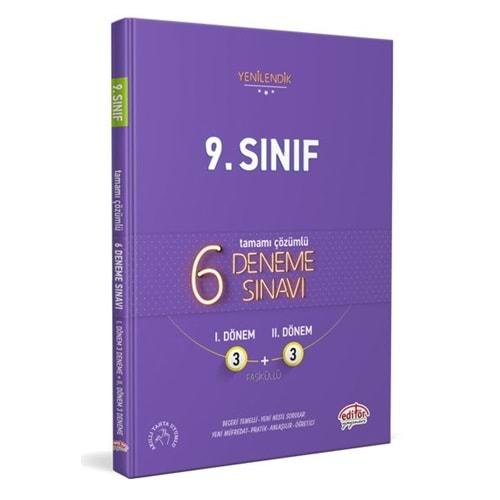 Editör Yayınları 9. Sınıf 6 Fasiküllü Deneme Sınavı